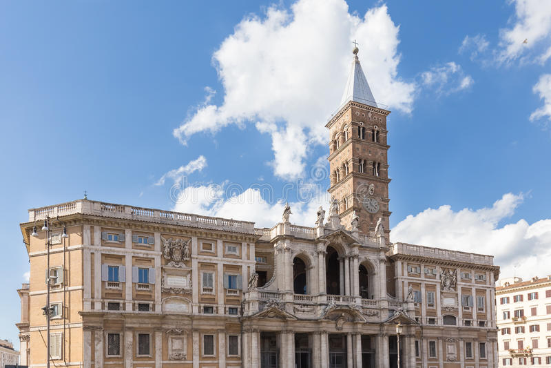 Basilikadi Santa Maria Maggiore i Rome, Italien arkivbild