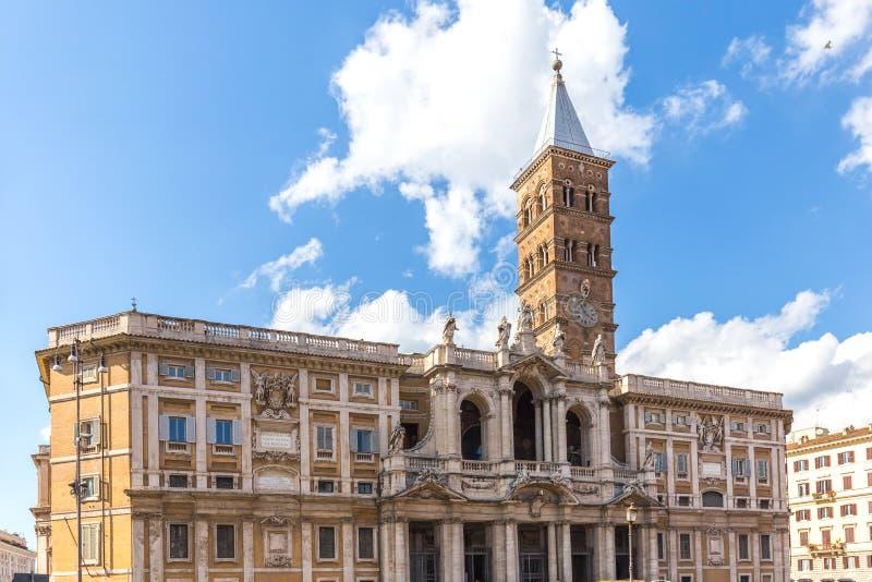 Basilikadi Santa Maria Maggiore i Rome, Italien royaltyfri bild