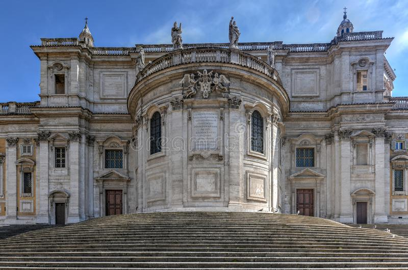 Basilikadi Santa Maria Maggiore - Rome, Italien royaltyfria bilder