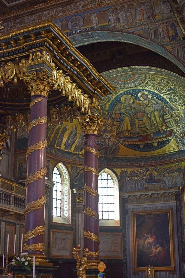 Basilikadi Santa Maria Maggiore Rome, Italien royaltyfria bilder