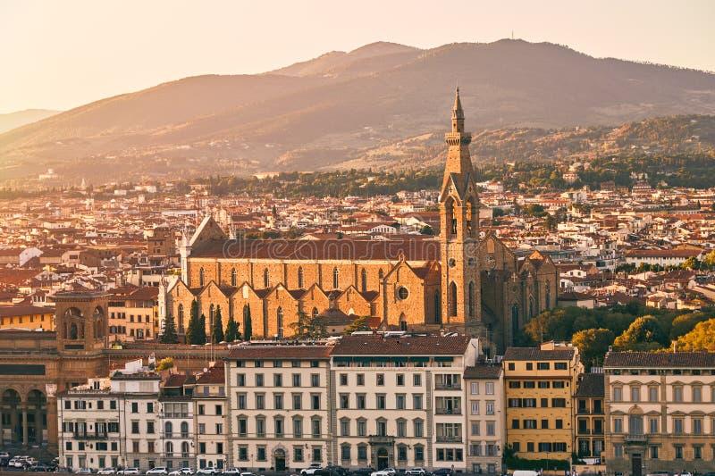 Basilikadina Santa Croce i Florence, Italien arkivbilder