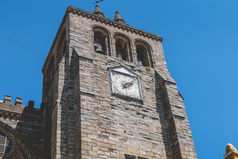 Basilikadomkyrka vår dam av antagandet av Evora royaltyfri fotografi