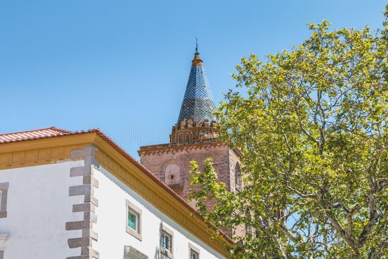 Basilikadomkyrka vår dam av antagandet av Evora arkivbilder