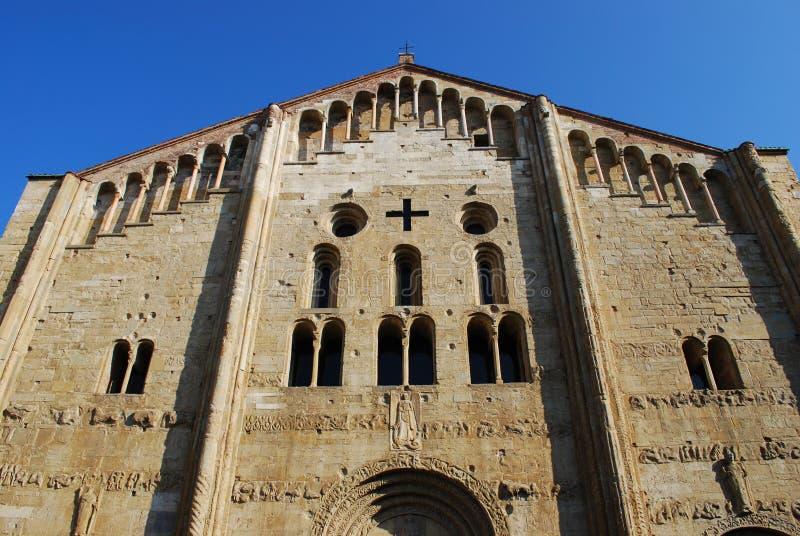 Basilikakirche Str.-Michele, Pavia stockfotografie