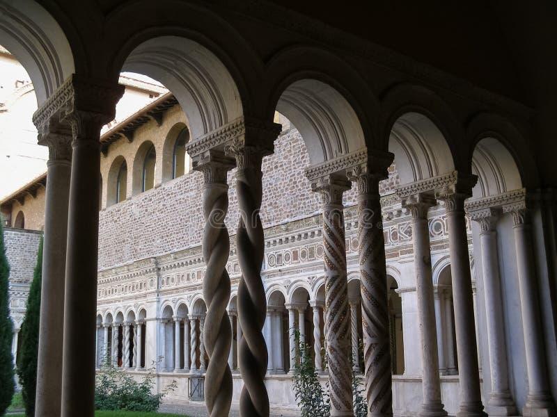 Basilikakloster för St John Lateran i Rome royaltyfri fotografi