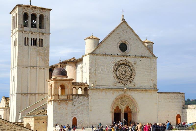 Basilikan av San Francesco fotografering för bildbyråer