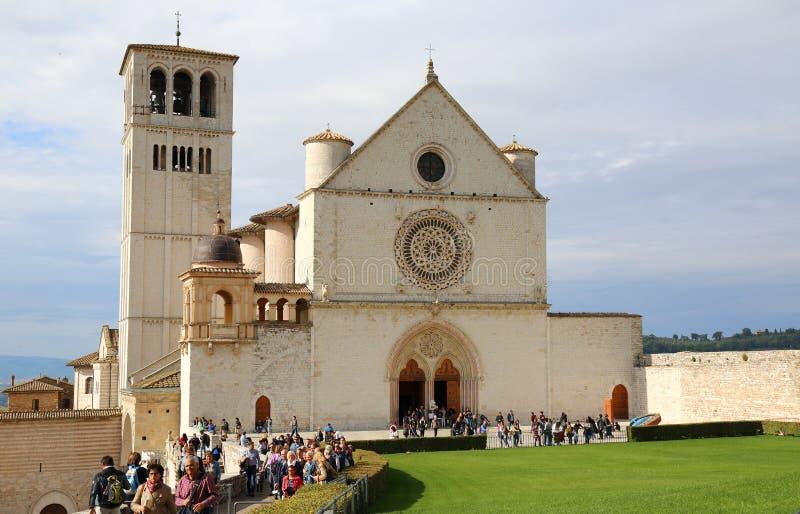 Basilikan av San Francesco arkivfoto