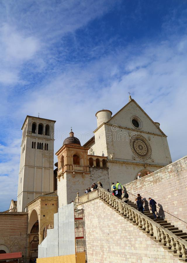 Basilikan av San Francesco royaltyfri bild
