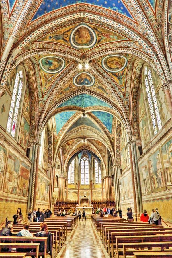 Basilikan av San Francesco royaltyfri foto