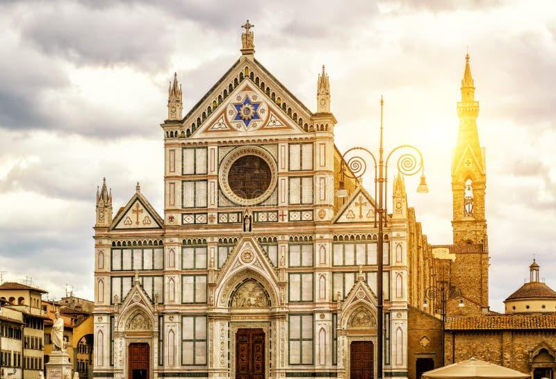Basilikan av Santa Croce i Florence, Italien royaltyfria bilder