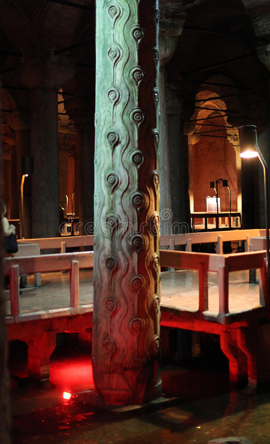 Basilikazisterne, Istanbul lizenzfreie stockbilder
