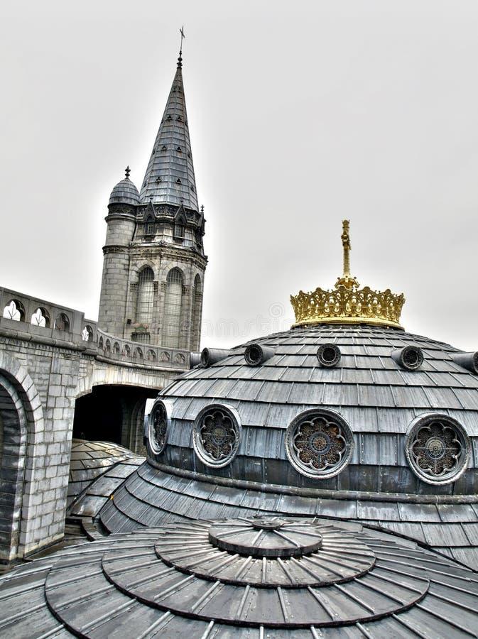 Basilique à Lourdes France photo stock
