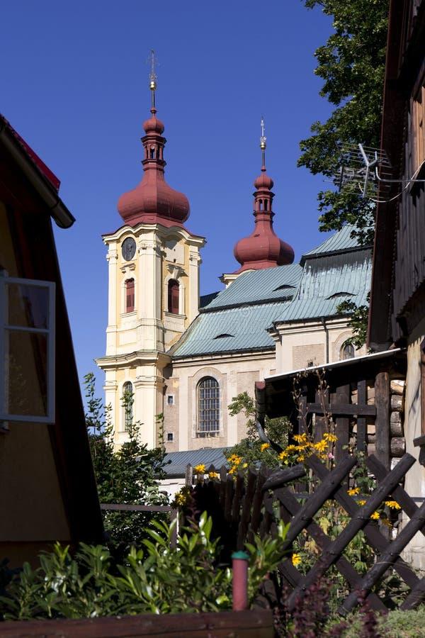 Basilique baroque de Vierge Marie, endroit visite de pèlerinage, Hejnice, République Tchèque photos libres de droits