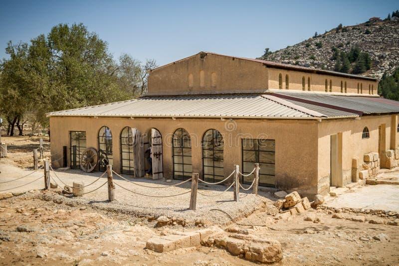 Basilique bizantine dans le Shiloh biblique, Israël photographie stock
