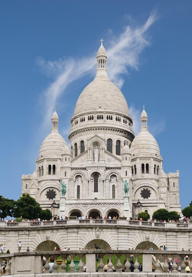 basilique c du巴黎sacre ur 库存图片