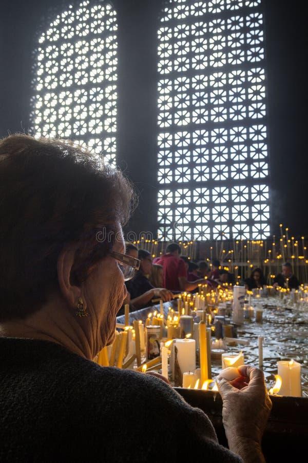 Basilique d'Aparecida - tombeau national photos libres de droits