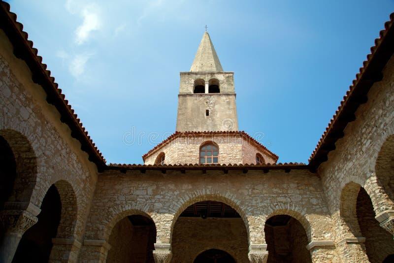 Basilique d'Euphrasian dans Porec photo libre de droits
