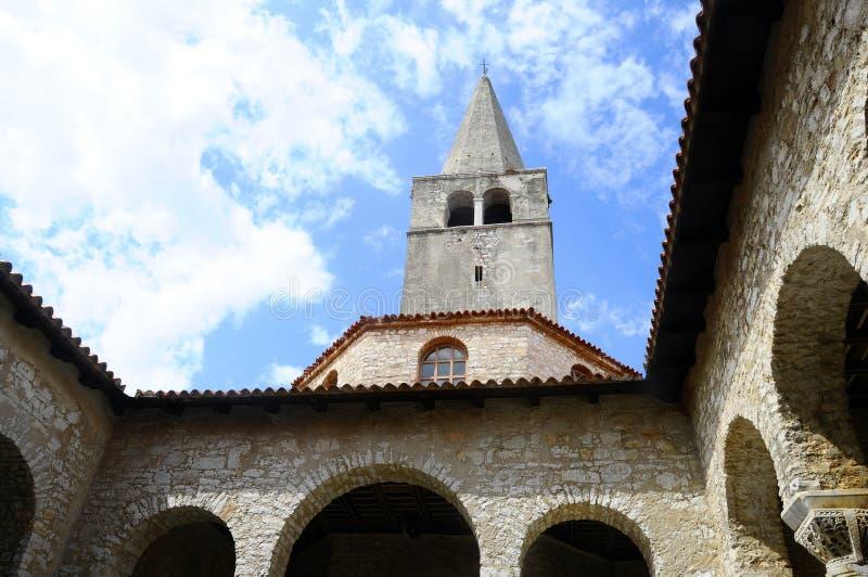 Basilique d'Euphrasian dans Porec, Croatie photo libre de droits