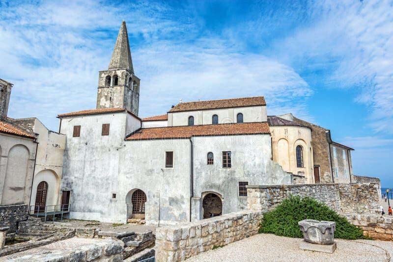 Basilique d'Euphrasian dans Porec, Croatie image stock