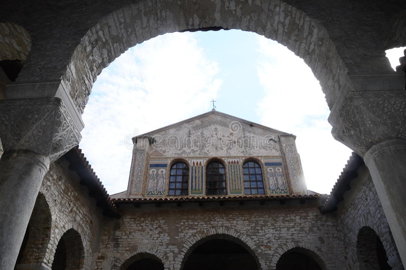 Basilique d'Euphrasian dans Porec, Croatie images stock