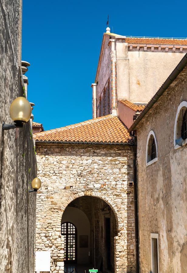 Basilique d'Euphrasian dans Porec, Croatie photos libres de droits