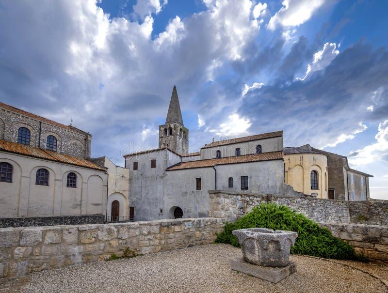 Basilique d'Euphrasian dans Porec, Istria, Croatie photo stock