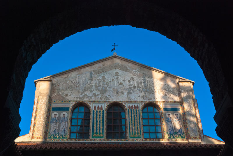 Basilique d'Euphrasian dans Porec, Istria, Croatie image stock