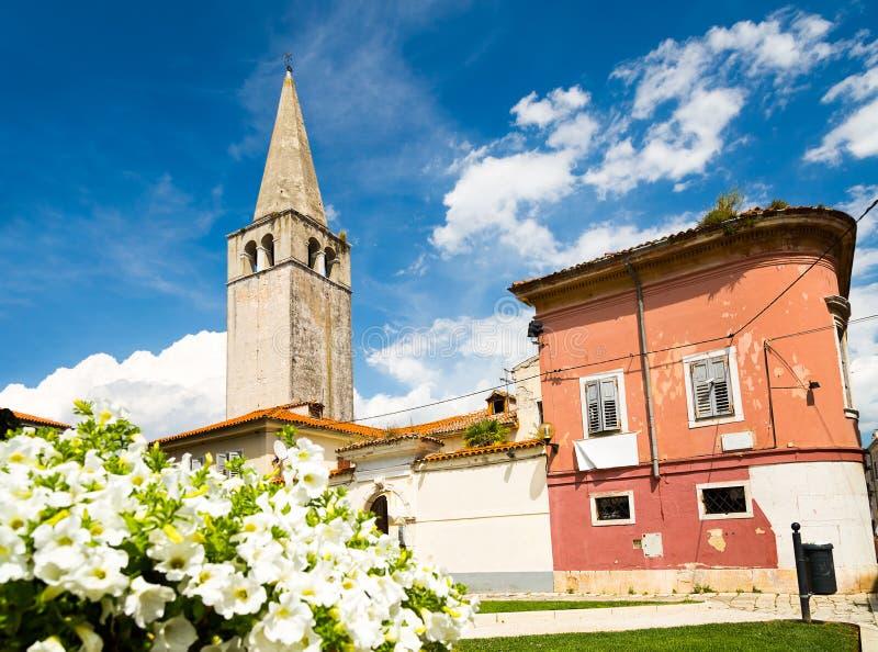 Basilique d'Euphrasian dans Porec, Istria, Croatie images libres de droits