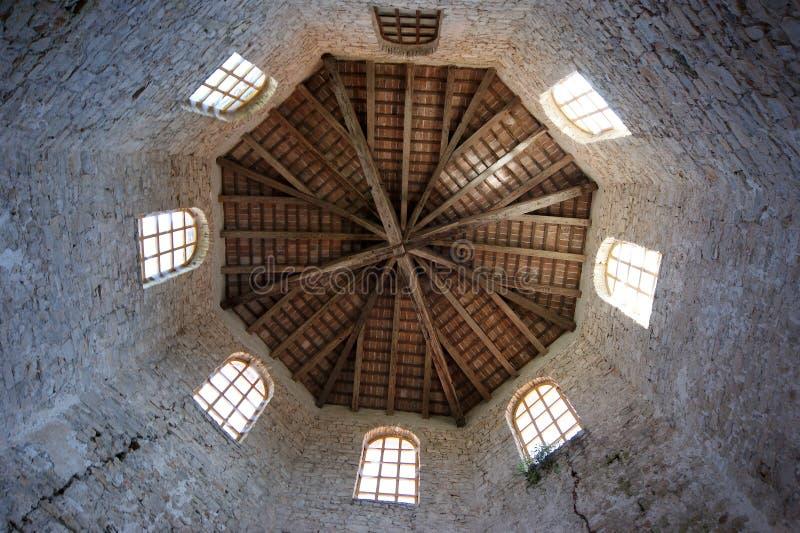 Basilique d'Euphrasian, ensemble dans le beffroi. Porec, Istria, Croatie. photo libre de droits