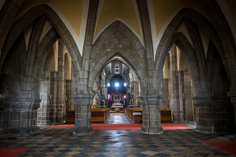 Basilique d'interiour de St Procopius image stock