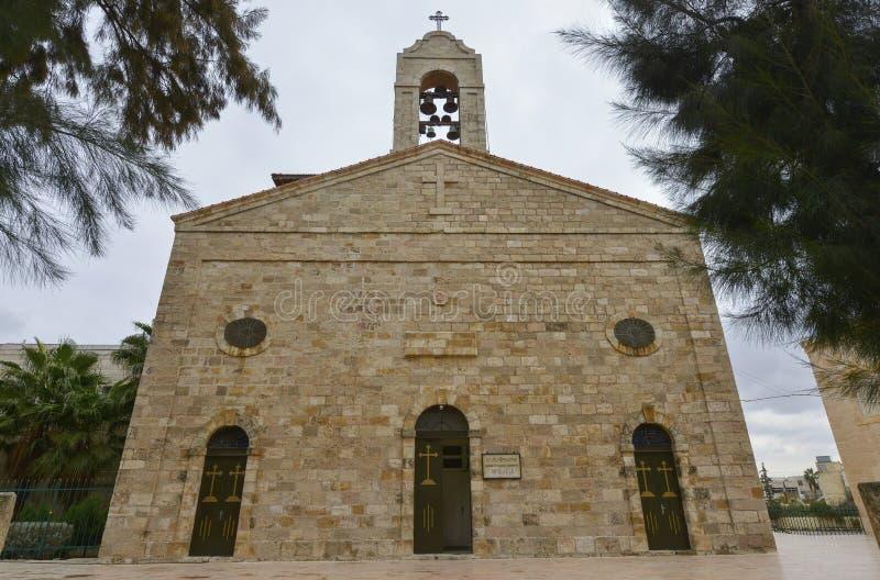 Basilique dans Madaba, Jordanie image libre de droits