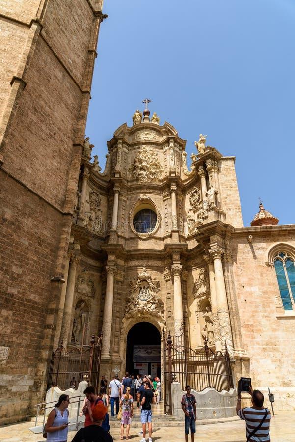Basilique de Cathedral†métropolitain «de l'acceptation de notre Madame de Valence image libre de droits
