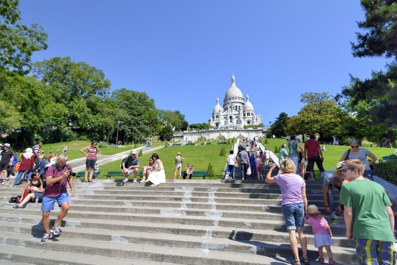 Basilique de Coeur d'acre, Montmartre, Paris, France photos libres de droits