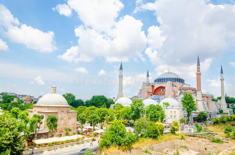 Basilique de Hagia Sophia à Istanbul, Turquie images libres de droits