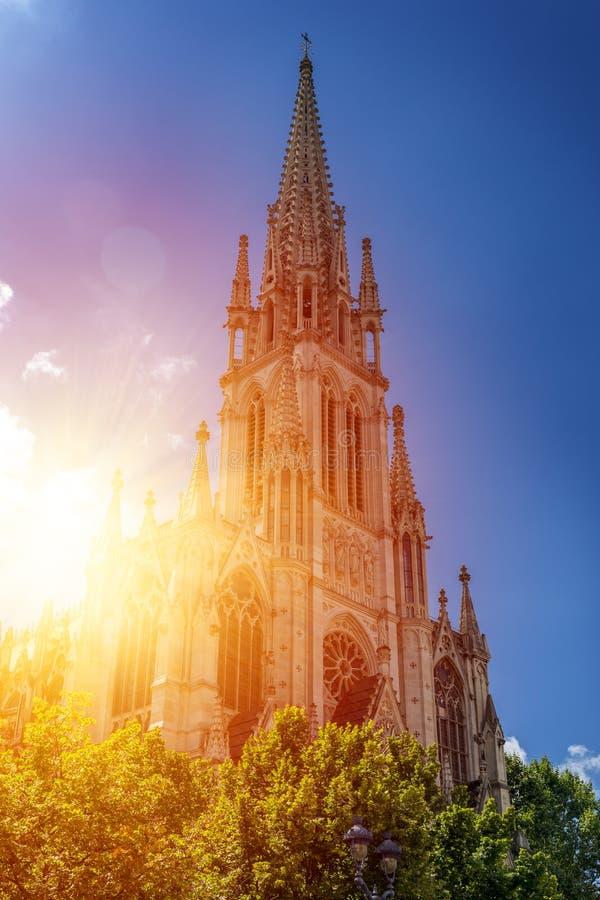 Basilique DE Heilige Epvre in Nancy, Frankrijk stock afbeelding