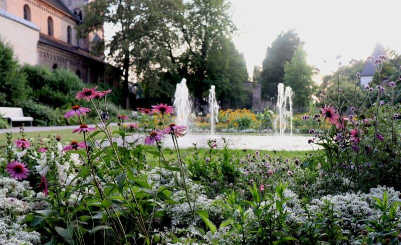 Basilique de jardin de roulette de St en Allemagne photographie stock