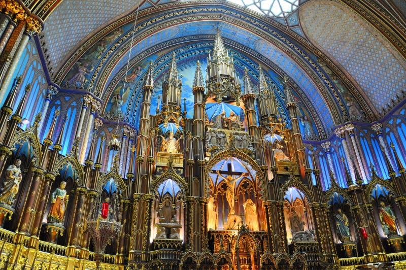Basilique de Montréal Notre Dame photos libres de droits