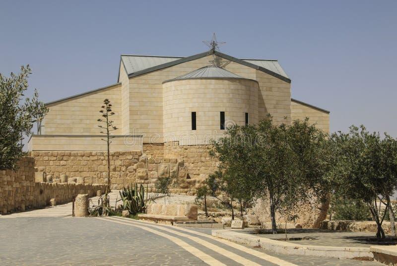 Basilique de Moses Memorial de Moïse, bâti Nebo, Jordanie images libres de droits