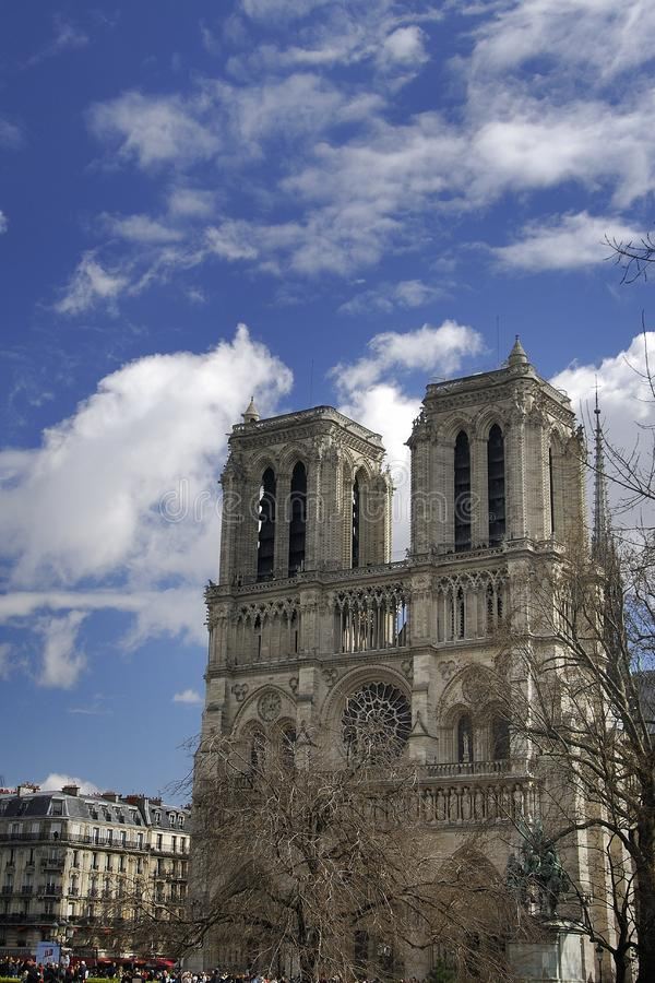 Basilique de Notre Dame à Paris photo stock