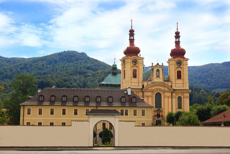 Basilique de pèlerinage dans Hejnice image stock
