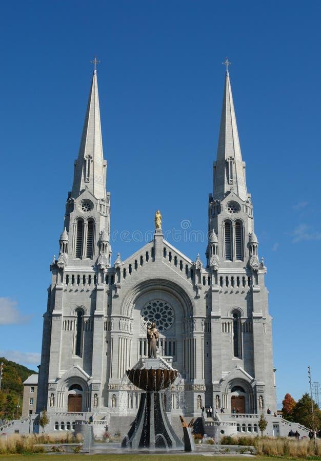 Basilique de Rue-Anne-Beaupre, Québec, Canada photos libres de droits