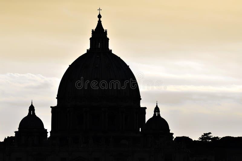 Basilique de rue Peter à Vatican images libres de droits