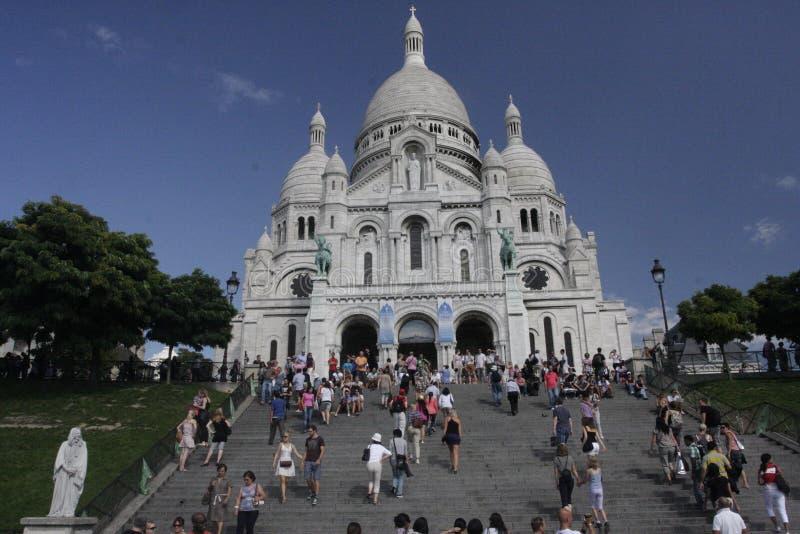 Basilique de Sacre Coeur, Montmartre, Paris, France photographie stock libre de droits