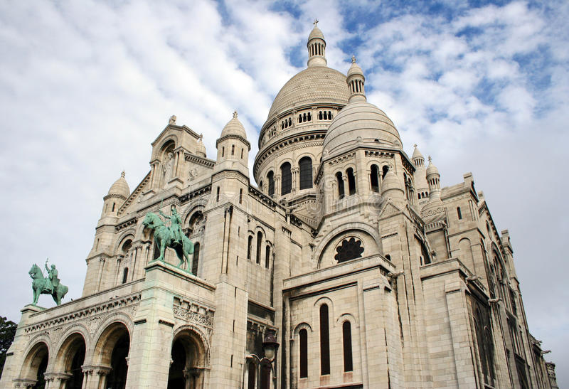 Basilique de Sacre Coeur, París, Francia foto de archivo
