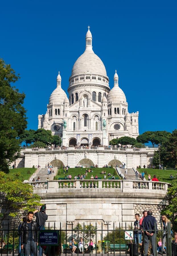 Basilique de Sacre-Coeur sur Montmartre, Paris images stock