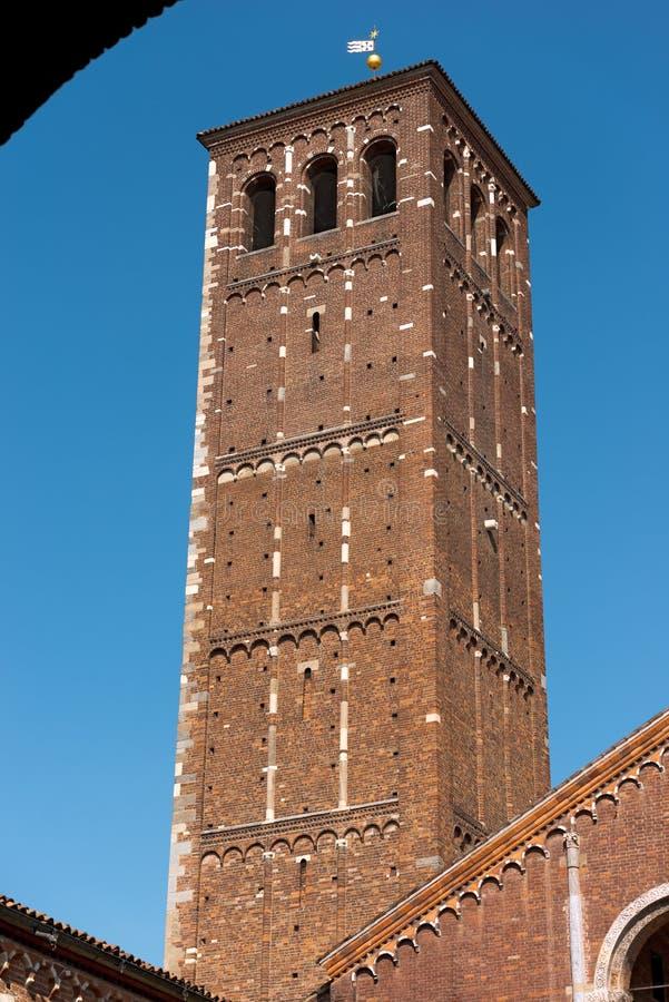 Basilique de saint Ambrogio - Milan Italie photo libre de droits