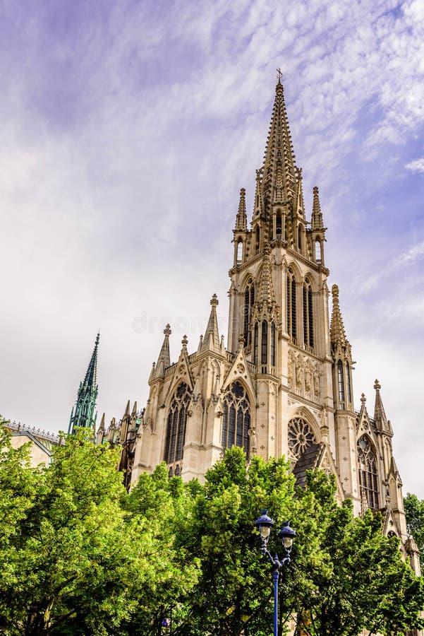 Basilique de Saint Epure, Nancy, France. stock photo