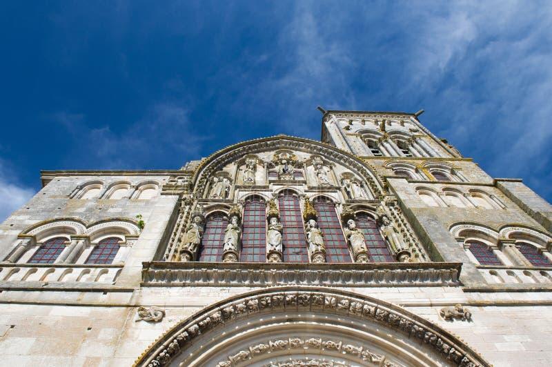 Basilique de Saint Madeleine in Vezelay. French church basilique de Saint Madeleine in Vezelay stock photography