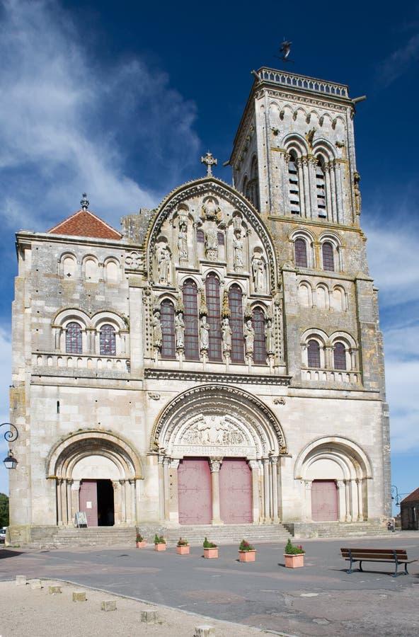 Basilique de Saint Madeleine in Vezelay. French church basilique de Saint Madeleine en Vezelay royalty free stock image