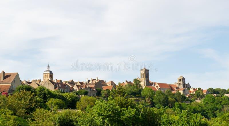 Basilique de Saint Madeleine in Vezelay. French church basilique de Saint Madeleine en Vezelay stock photo